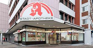Eingang der Stadt-Apotheke